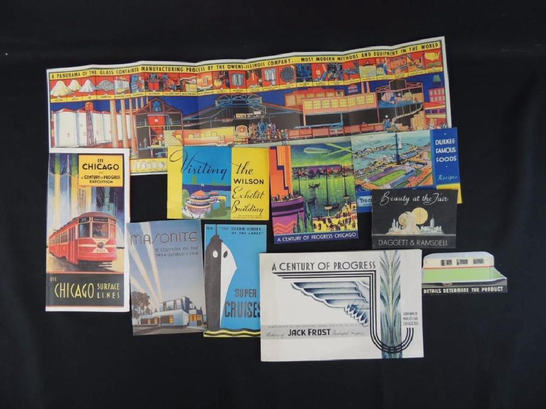Group of 1933-34 Chicago World's Fair Advertising