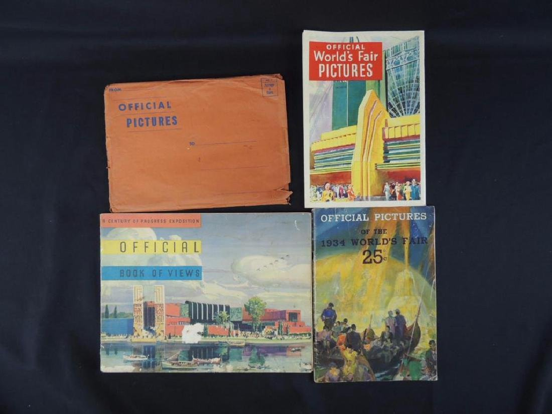 Group of 3 1933-34 Chicago World's Fair Official