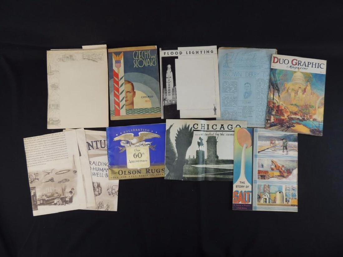1933-34 Chicago World's Fair Magazines, Newspapers, and