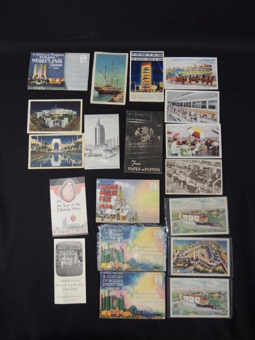 1933-34 Chicago World's Fair Souvenir Postcards