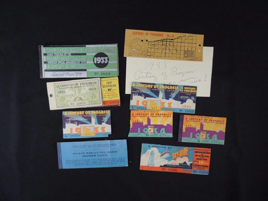 1933-34 Chicago World's Fair New and Used Tickets