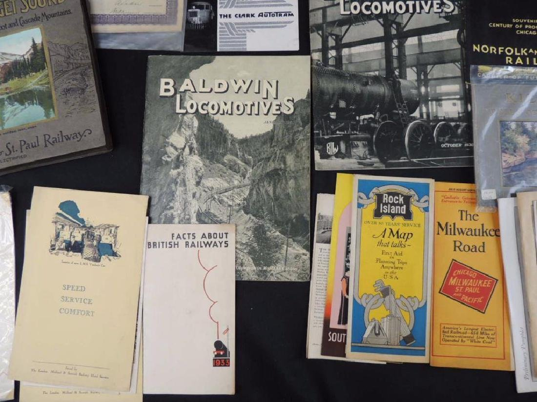 Group of Railroad Magazines, Booklets, Photos, and More - 10
