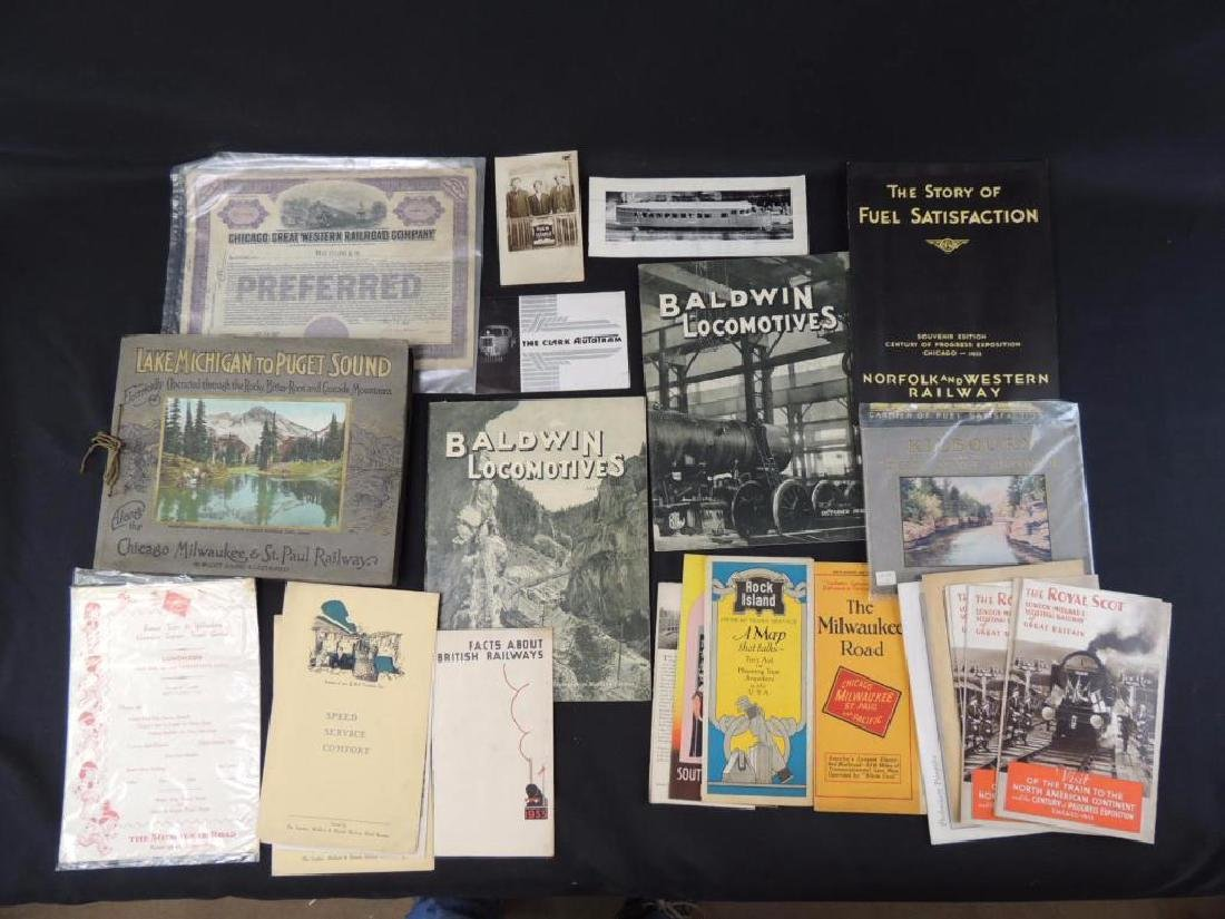 Group of Railroad Magazines, Booklets, Photos, and More