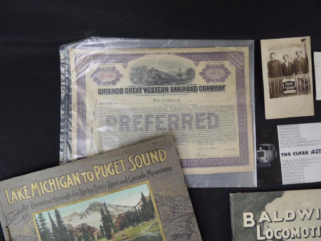 Group of Railroad Magazines, Booklets, Photos, and More - 6