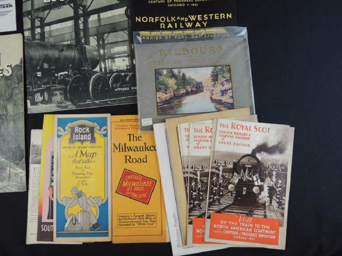 Group of Railroad Magazines, Booklets, Photos, and More - 9