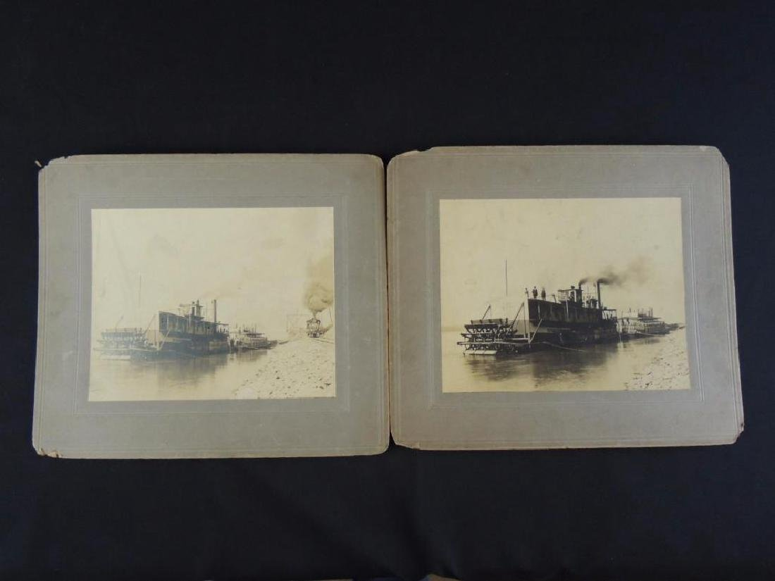 Group of 2 Photographs Featuring Steam Boats