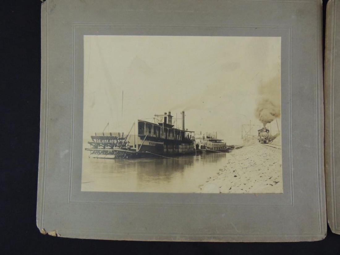 Group of 2 Photographs Featuring Steam Boats - 2