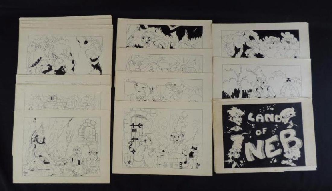 Land of Neb Group of 27 Original Ink Illustrations