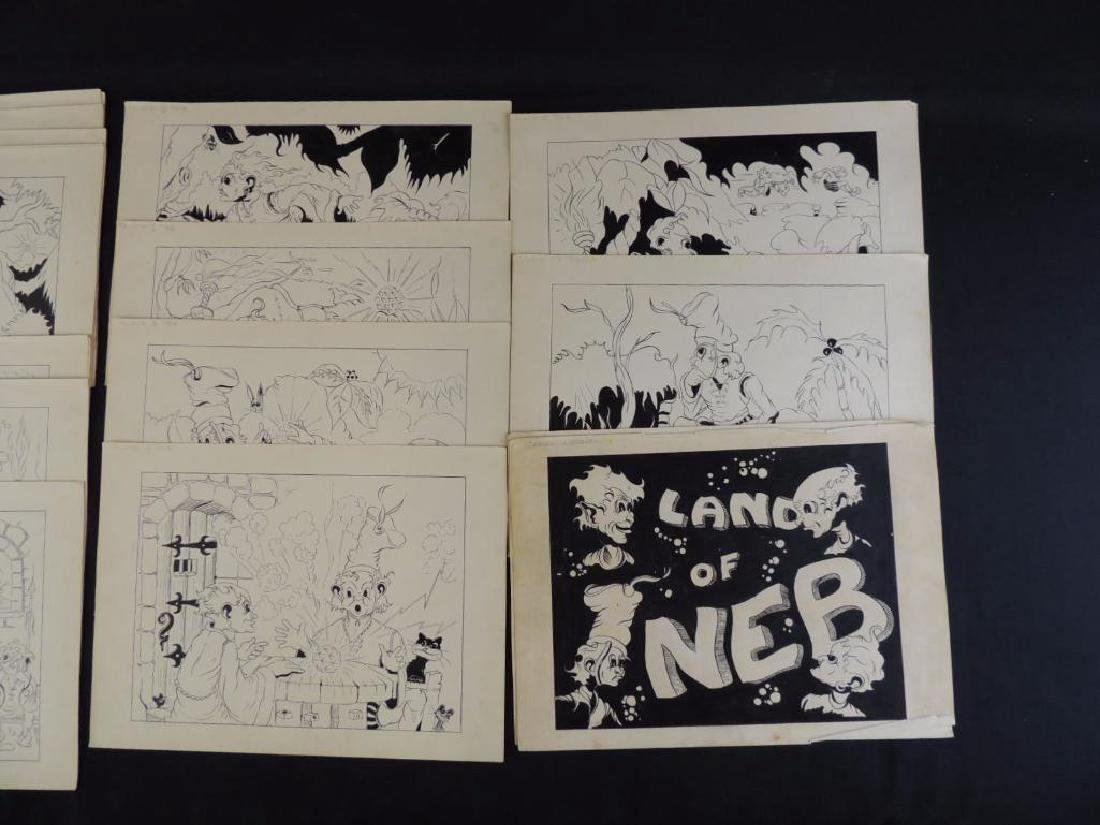 Land of Neb Group of 27 Original Ink Illustrations - 2
