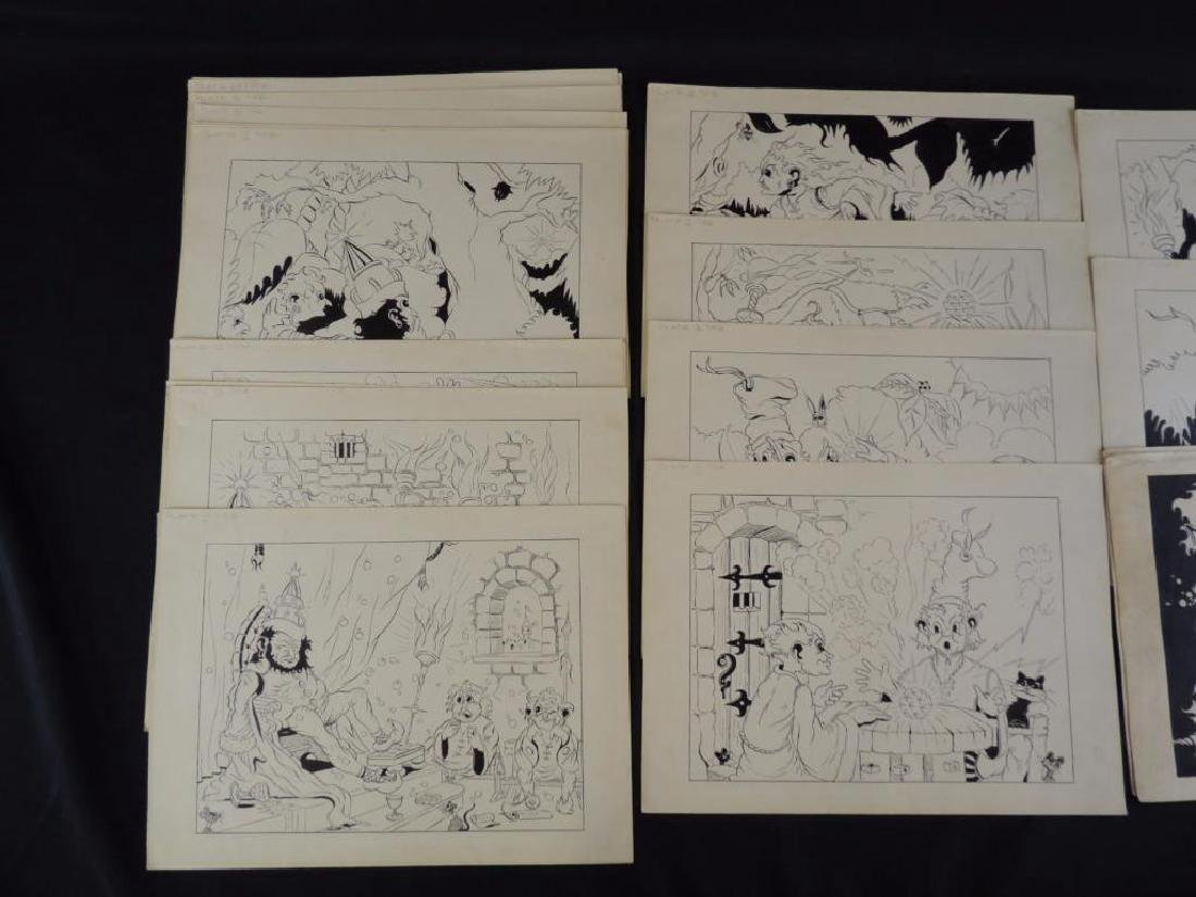Land of Neb Group of 27 Original Ink Illustrations - 3