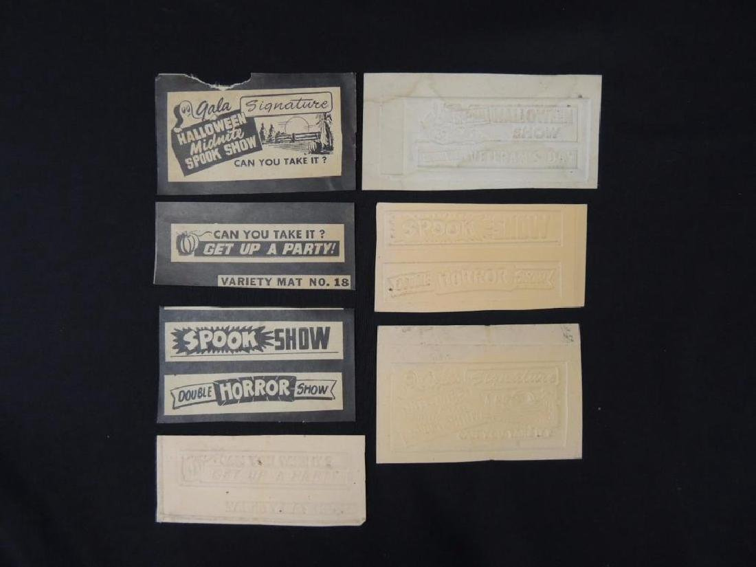 Group of 7 Vintage Halloween Midnite Spook Show Tickets