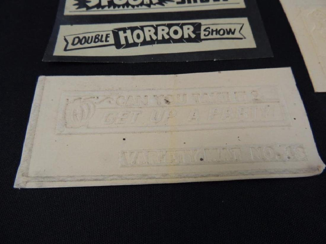 Group of 7 Vintage Halloween Midnite Spook Show Tickets - 5