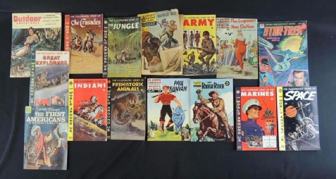 Group of 15 Vintage Comics Featuring Star Trek,