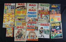 Group of 20 Vintage Mad and Cracked Magazines