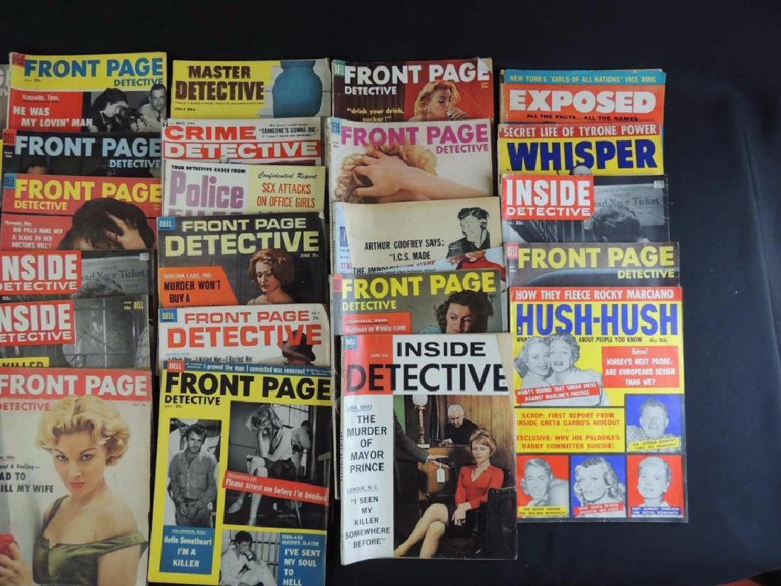 Group of 38 Vintage Front Page Detective and Inside - 2
