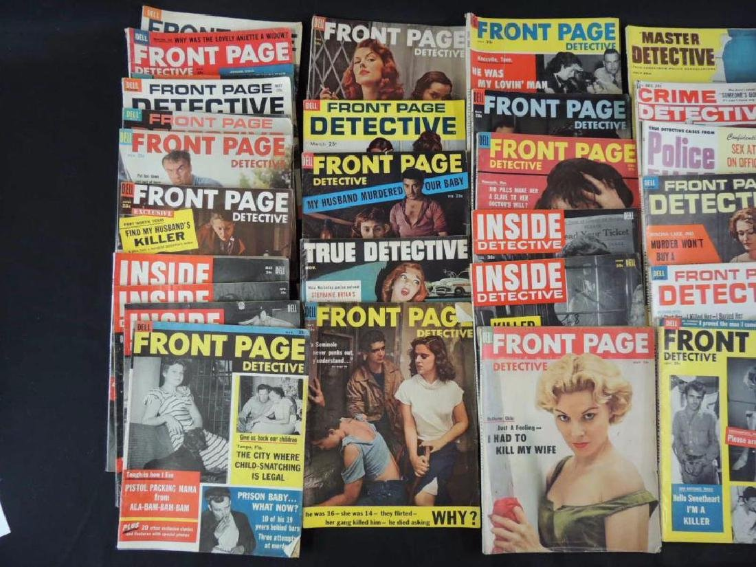 Group of 38 Vintage Front Page Detective and Inside - 4