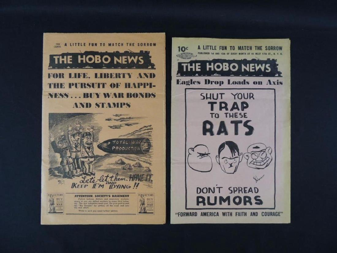 Group of 2 Vintage Hobo News Magazines