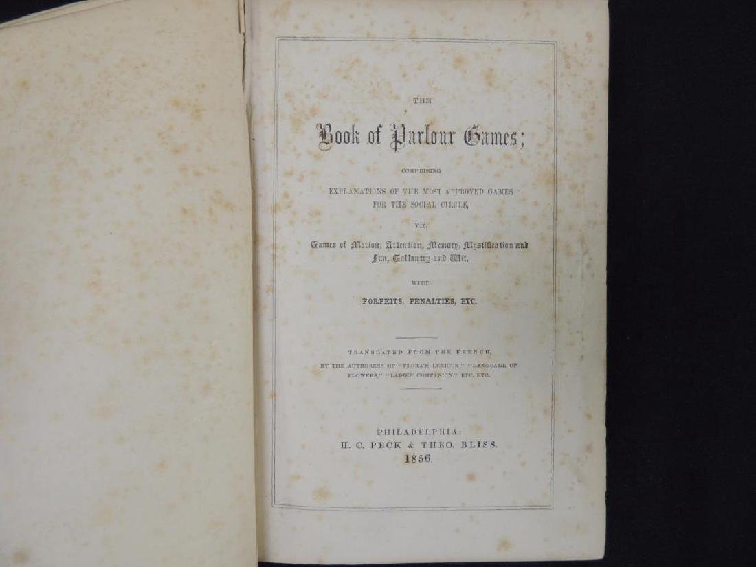 The Book of Parlor Games 1856 - 4
