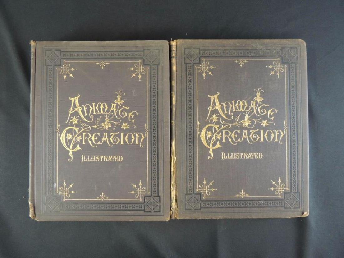 1885's Animate Creation by Rev. J.G. Wood Volumes 1 and