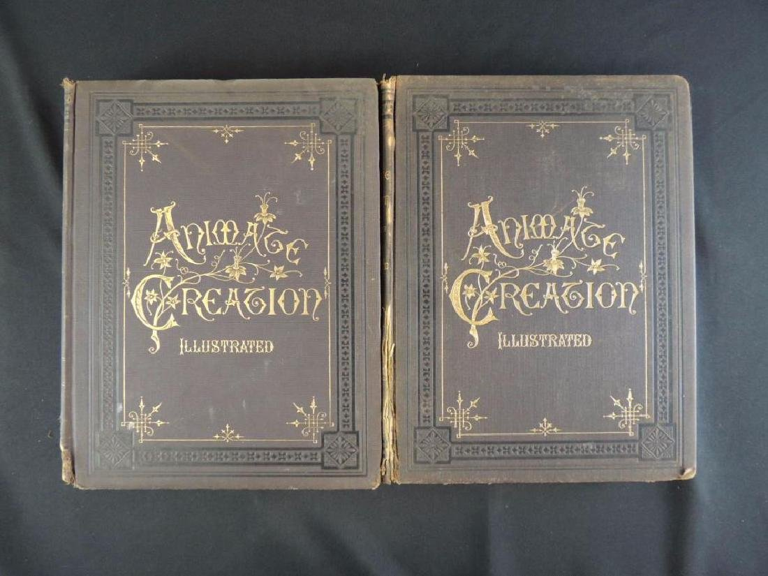 1885's Animate Creation by Rev. J.G. Wood Volumes 1 and - 2