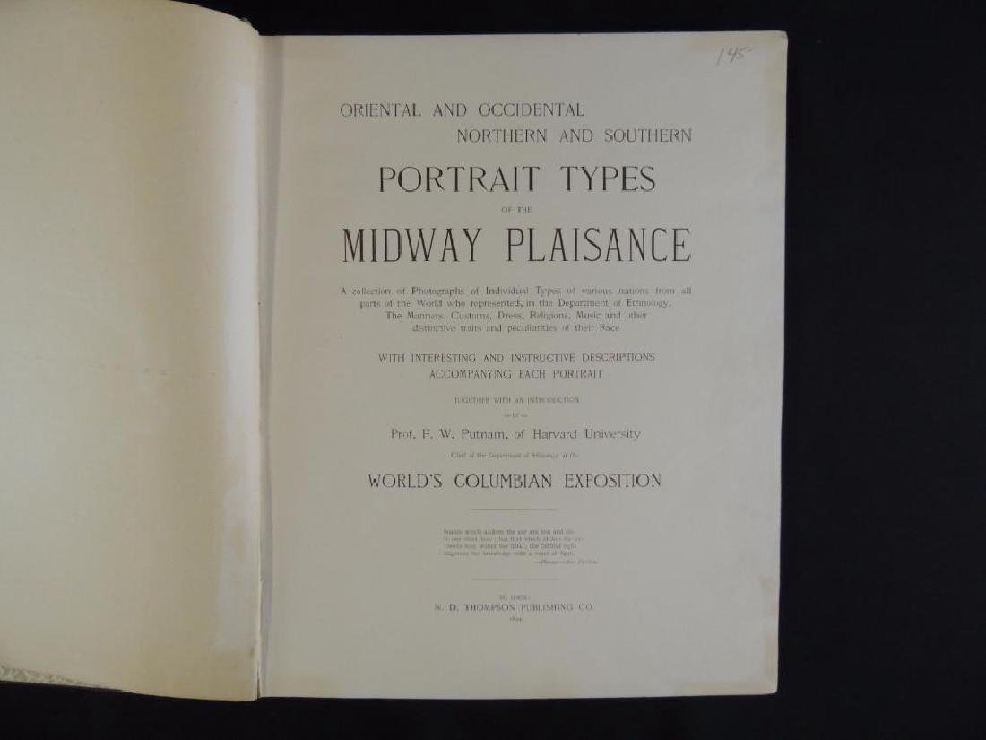 1894's Portrait Types of the Midway Plaisance by F.W. - 2