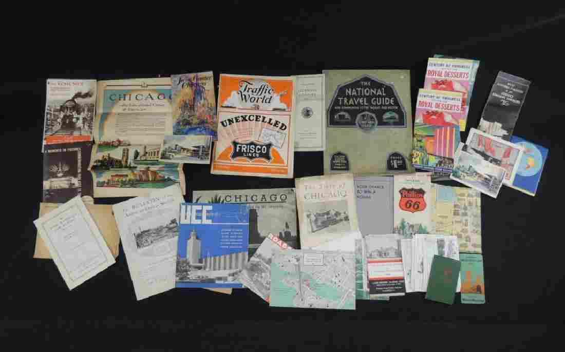 Group of 1933-34 Chicago World's Fair Ephemera