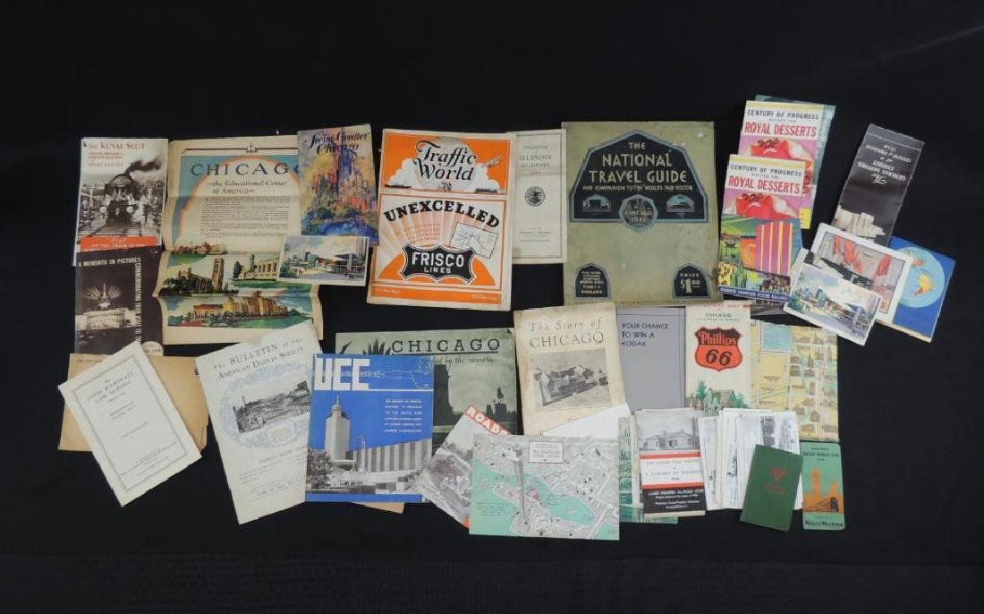 Group of 1933-34 Chicago World's Fair Ephemera