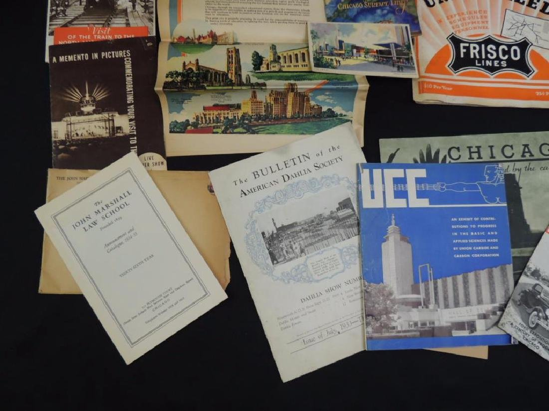 Group of 1933-34 Chicago World's Fair Ephemera - 3