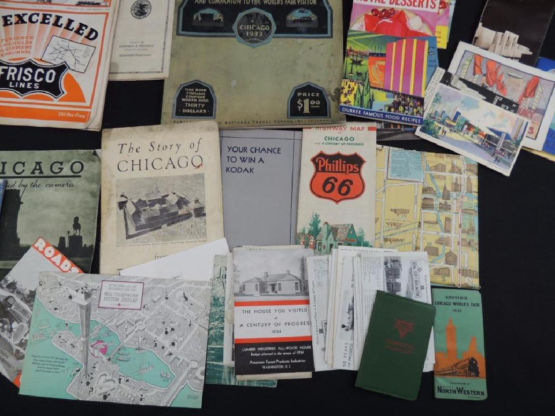 Group of 1933-34 Chicago World's Fair Ephemera - 7