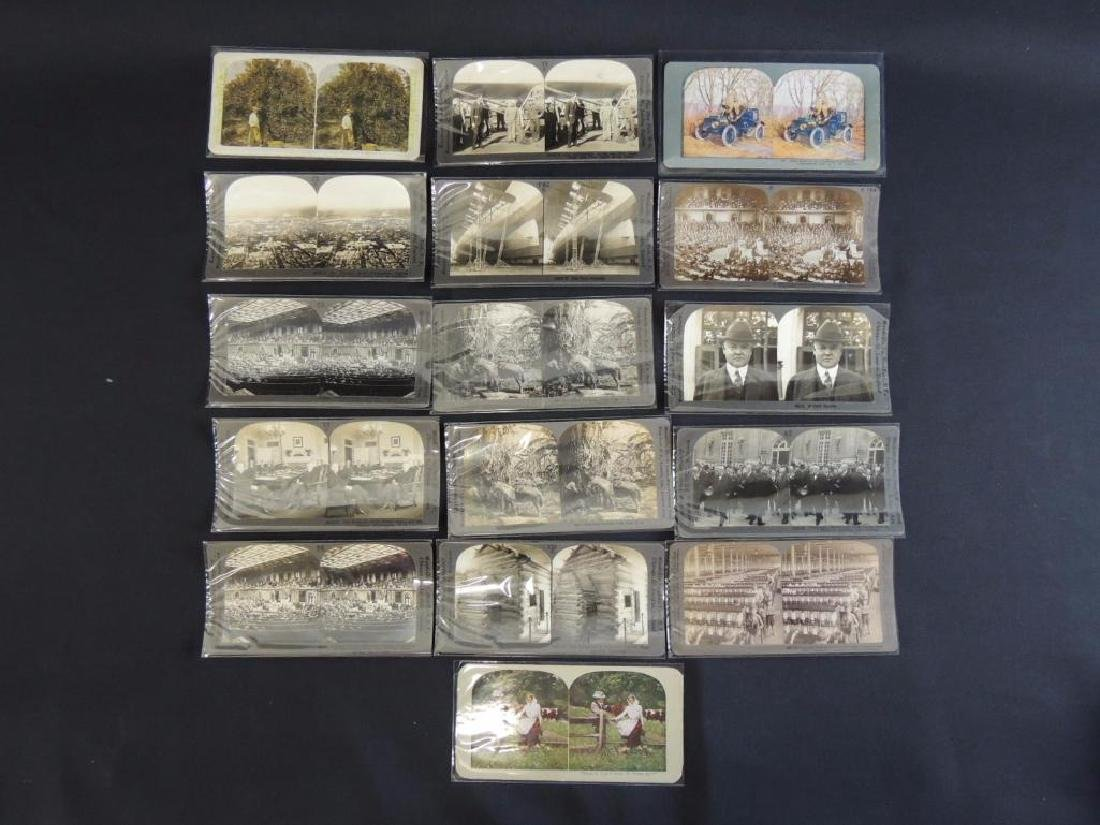 Group of 16 Stereographs Featuring Zeppelin,