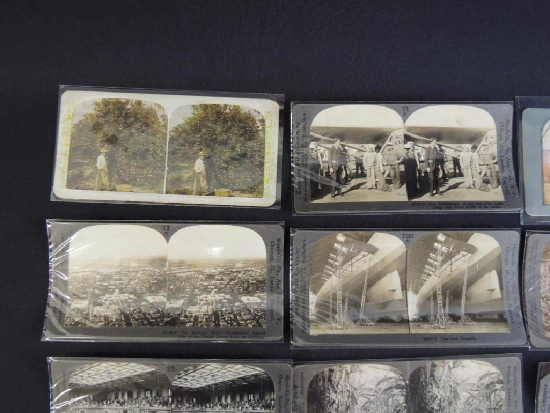 Group of 16 Stereographs Featuring Zeppelin, - 2