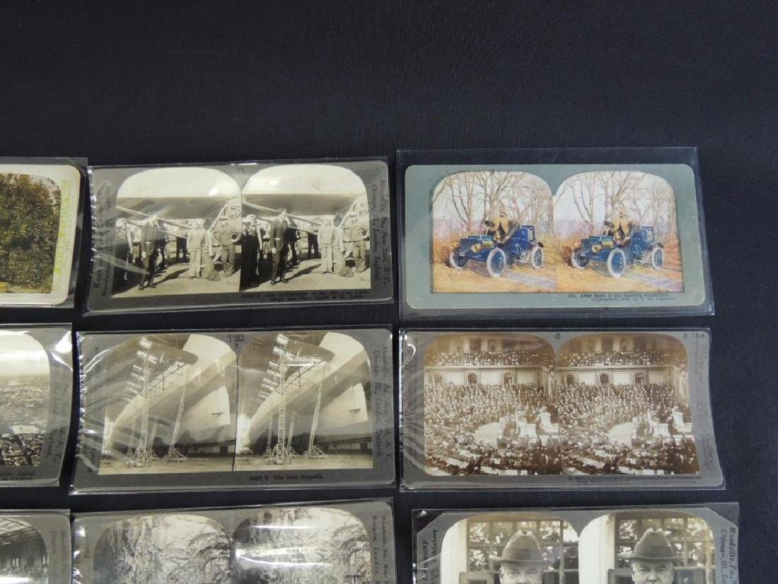 Group of 16 Stereographs Featuring Zeppelin, - 7