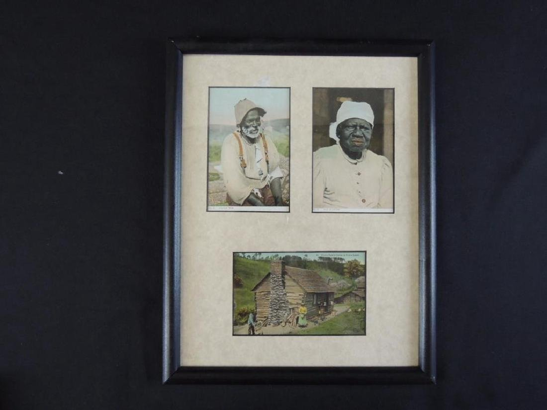 Group of 3 Framed Black Americana Postcards