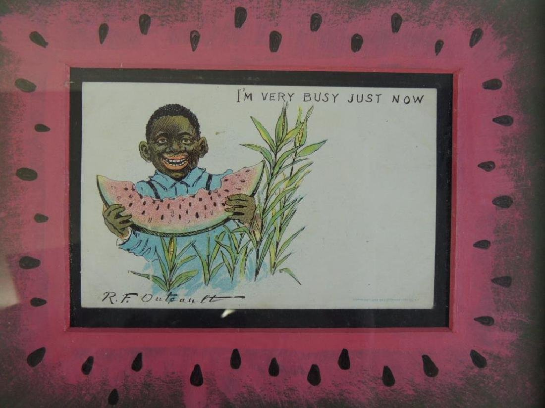 """I'm Very Busy Just Now"" R.F. Outcault Black Americana - 2"