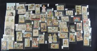 Group of Victorian Spool and Thread Trade Cards