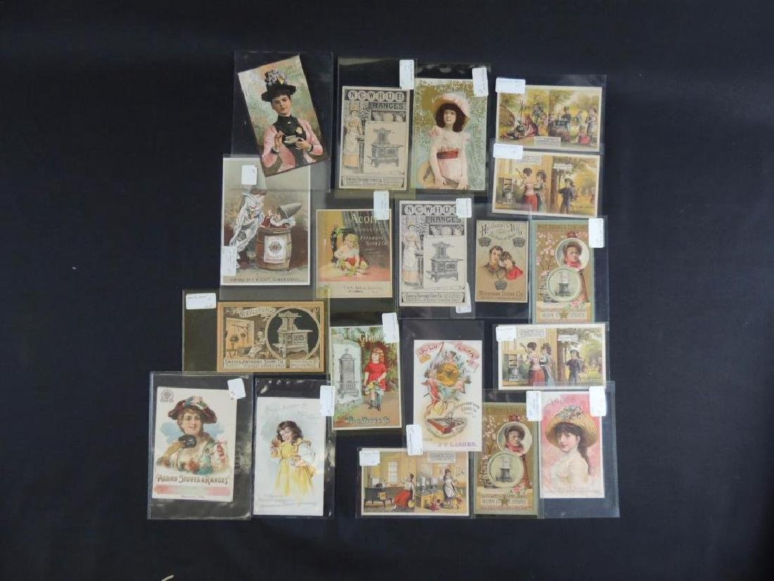 Group of 19 Victorian Stove Trade Cards