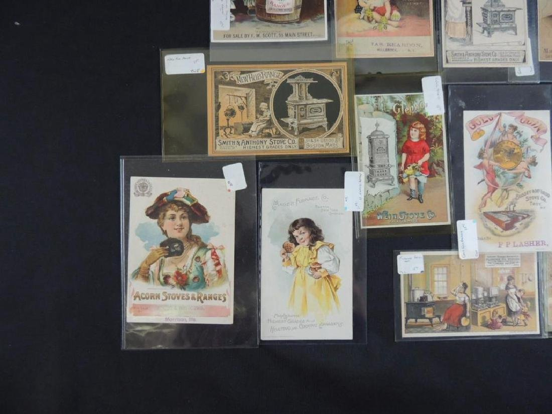 Group of 19 Victorian Stove Trade Cards - 2