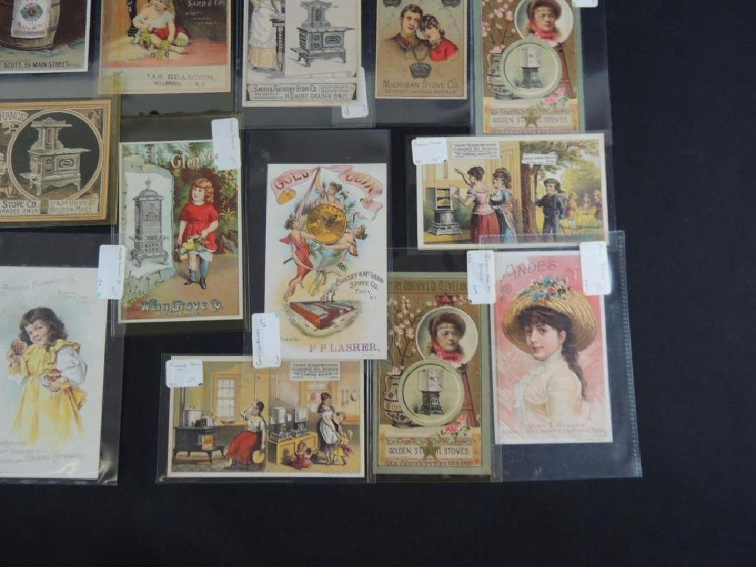 Group of 19 Victorian Stove Trade Cards - 3