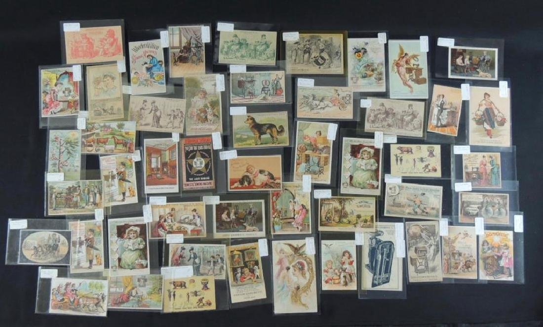 Group of 49 Victorian Sewing Machine Trade Cards