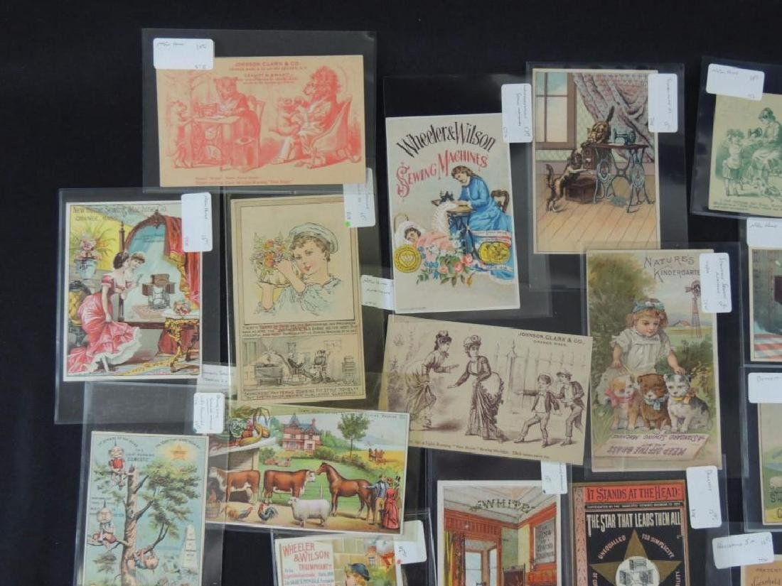 Group of 49 Victorian Sewing Machine Trade Cards - 2