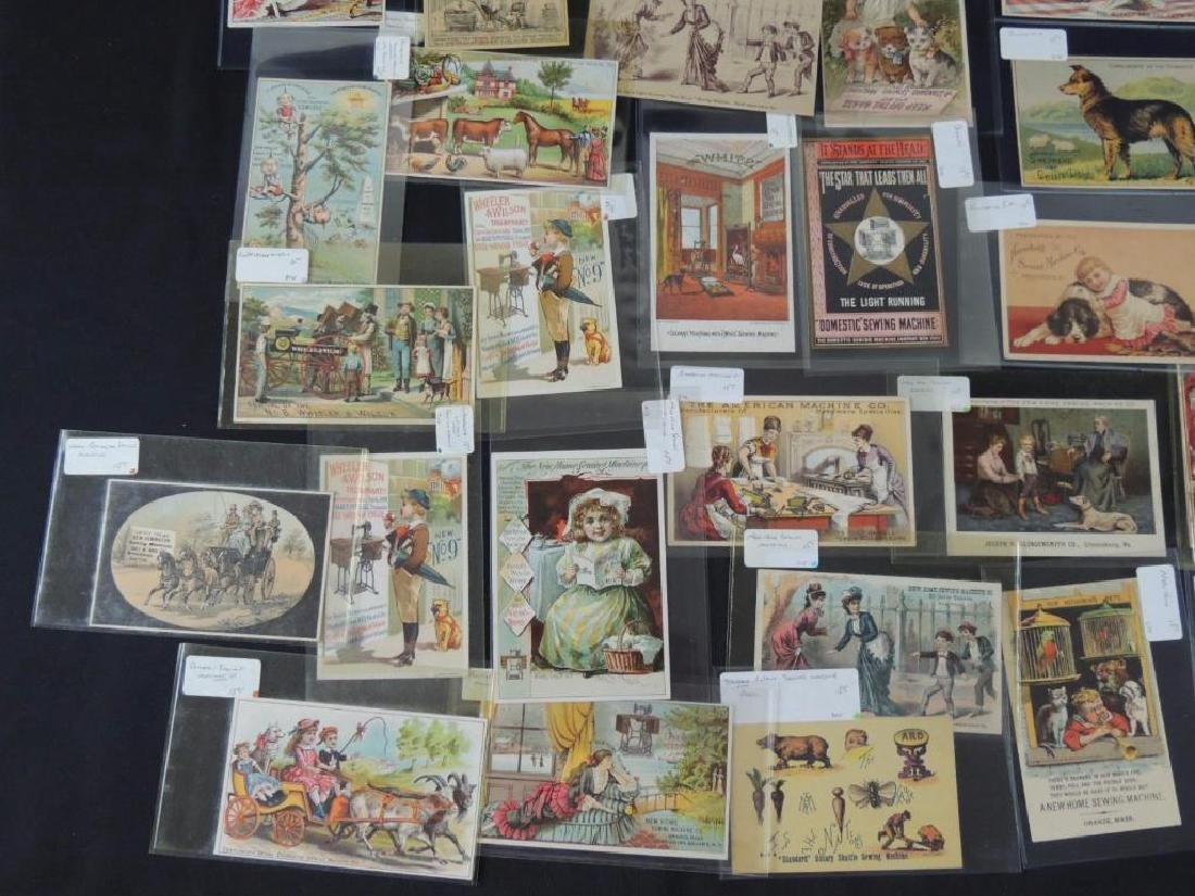 Group of 49 Victorian Sewing Machine Trade Cards - 3