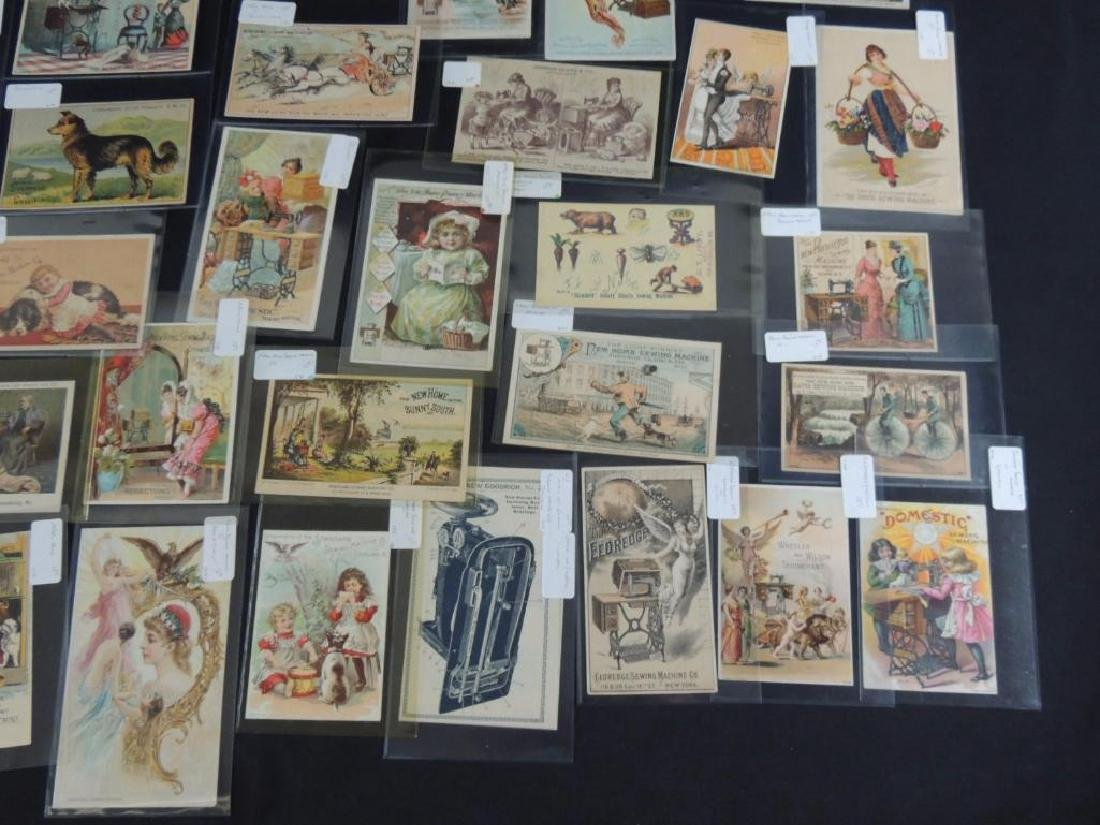 Group of 49 Victorian Sewing Machine Trade Cards - 4