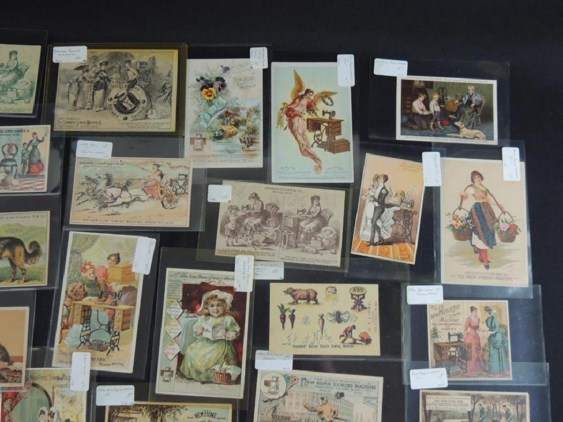 Group of 49 Victorian Sewing Machine Trade Cards - 5
