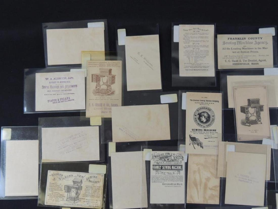 Group of 49 Victorian Sewing Machine Trade Cards - 6