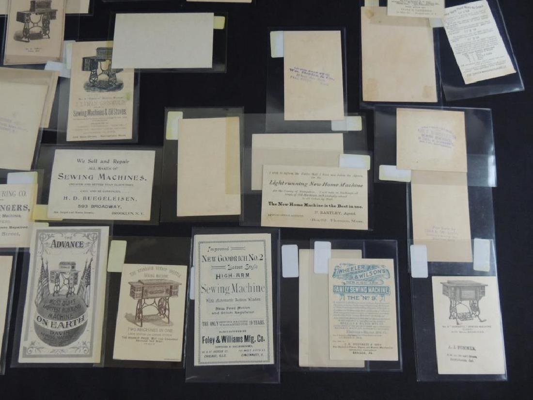 Group of 49 Victorian Sewing Machine Trade Cards - 8
