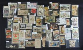 Group of 46 Victorian Trade Cards