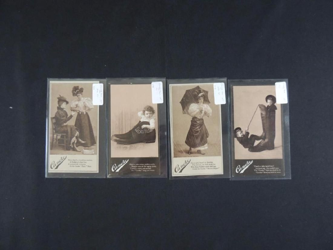 Candee Shoes Victorian Trade Cards Group of 4