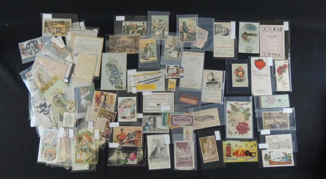 Group of Victorian Trade Cards and Other Advertising