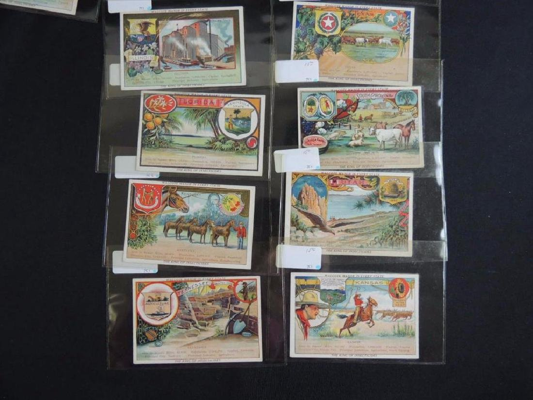 Group of 17 Victorian Trade Cards Featuring States - 2