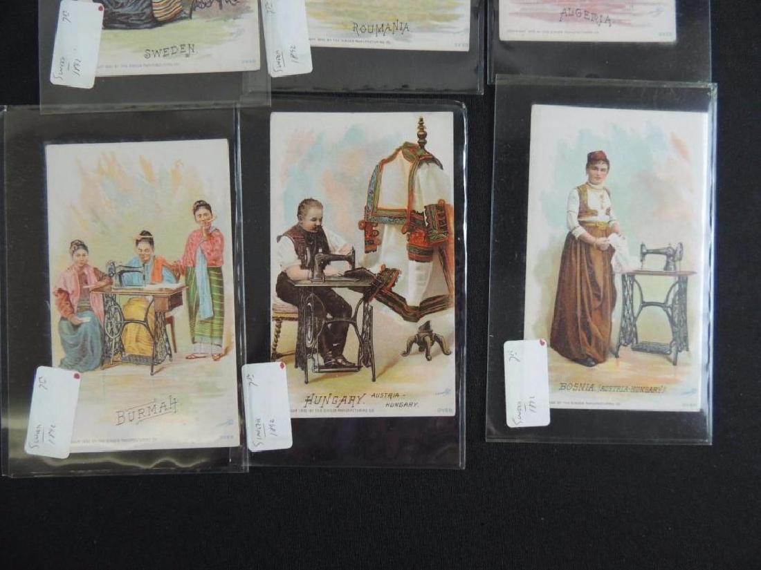 Group of 10 Singer Manf. Co. Victorian Trade Cards - 4